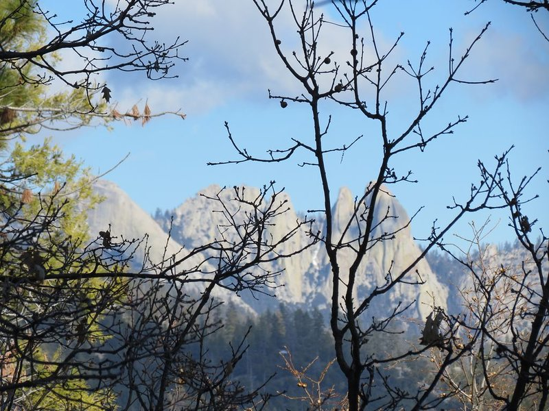 Hike Needles lookout - a ranger station sits atop these peaks.