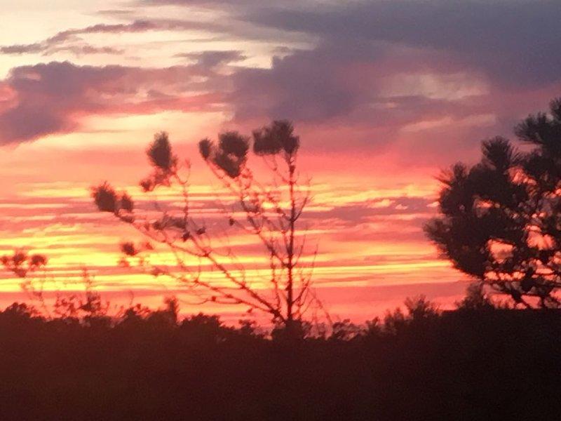 Hermosa puesta de sol de Cedar Island