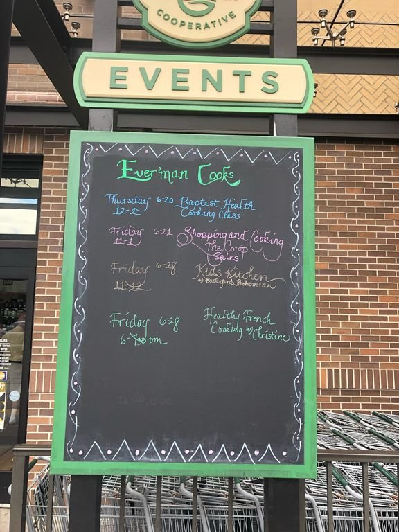 Weekly Events at Evermans. Health , cooking, and nutrition classes
