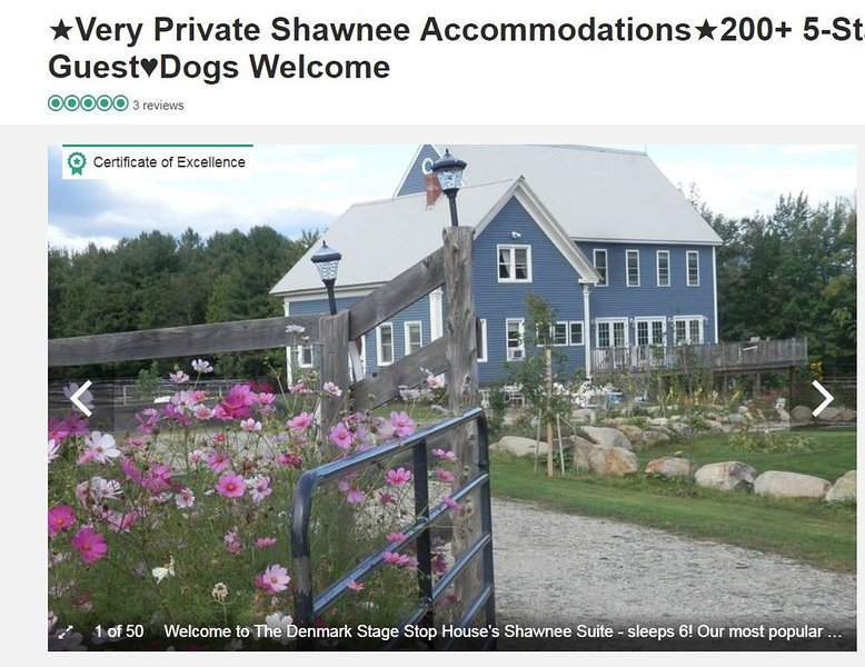 SKI Shawnee Peak-FREEDOM On 7 Acres in Maine - Dogs Welcome! SKI ME! Work Remote, alquiler vacacional en Cornish