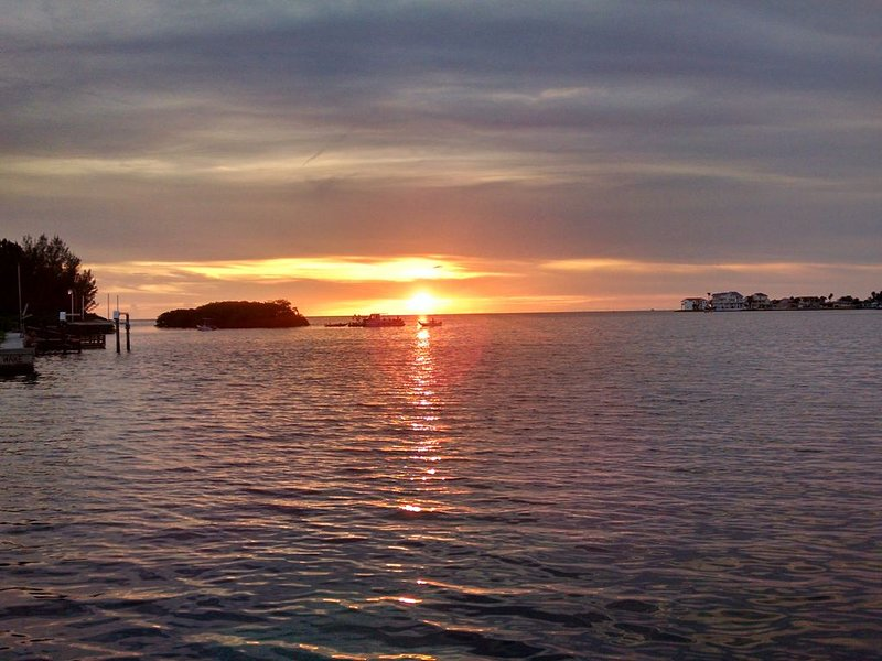 Sunset on the Gulf from our backyard