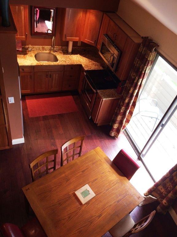 Kitchen view from loft