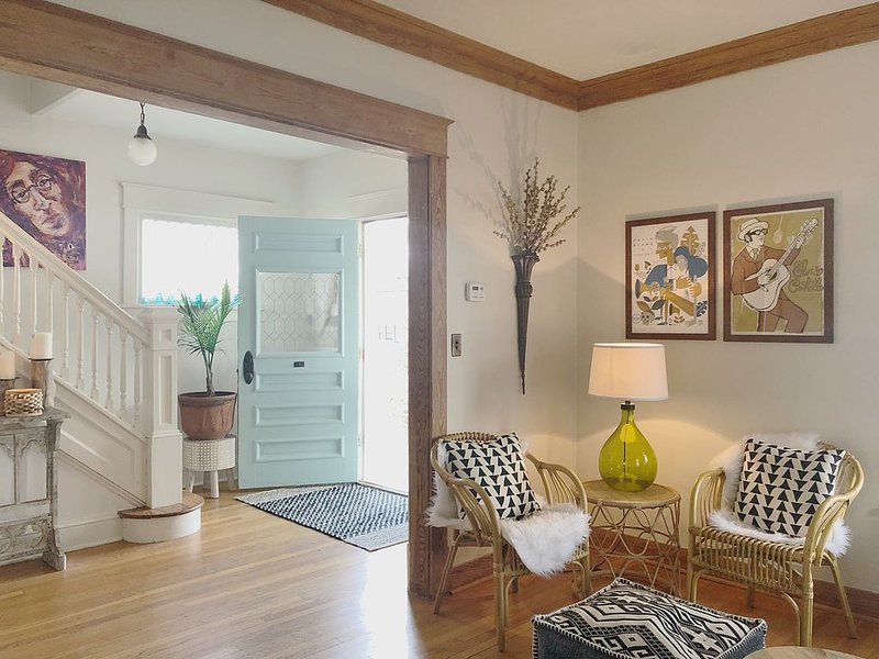 Living room and entryway