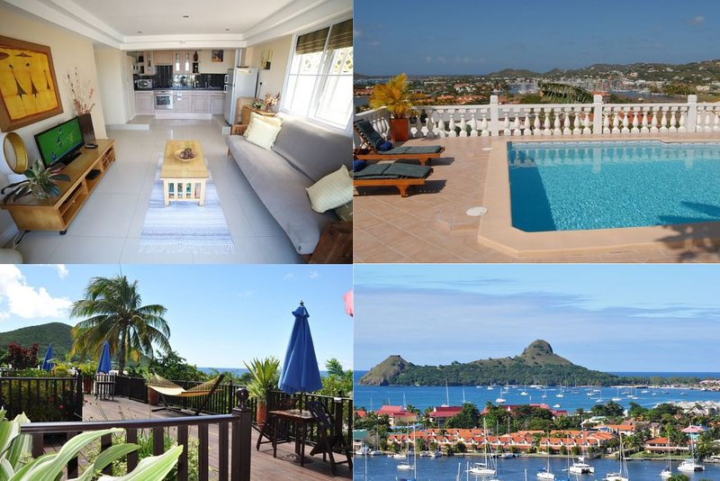 2 Luxurious, Modern 1 bed Suites with Stunning Ocean/Marina Views*amazing prices, holiday rental in Gros Islet Quarter