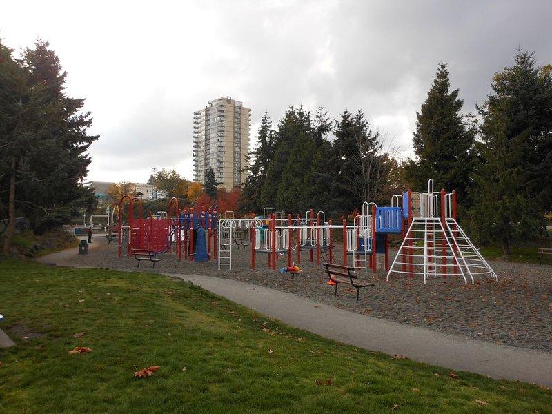Great playground at Maffeo Sutton Park a short walk away