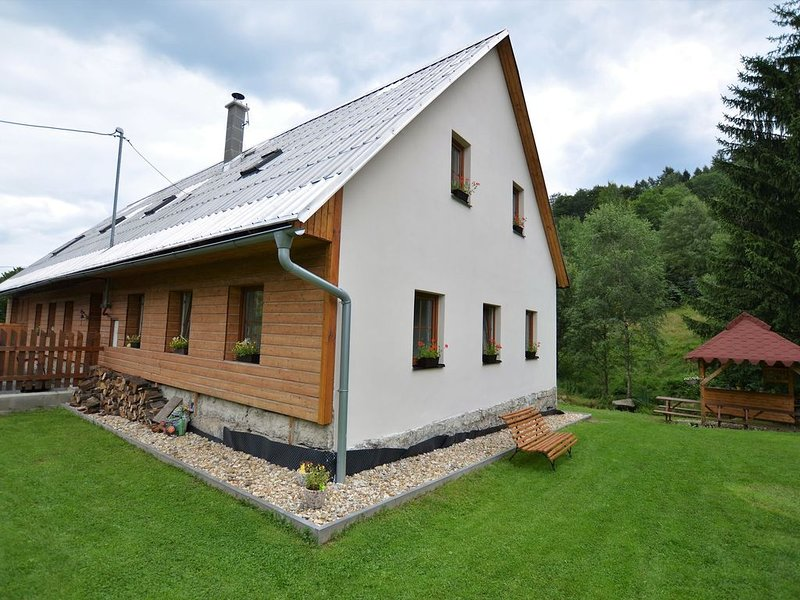 Comfortable holiday home with sauna and billiards, ski slope 2 km, holiday rental in Mnisek