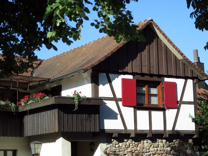 1 Ferienwohnung Turmblick, 70qm, 2 Schlafzimmer, 1 Wohnzimmer, max. 4 Personen, holiday rental in Friesenheim