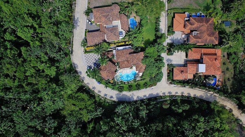 Foto aérea de la casa