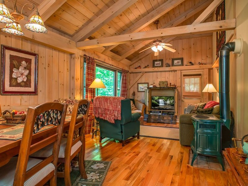 Timberframe cabin in Connestee Falls, Pet Friendly, holiday rental in Rosman