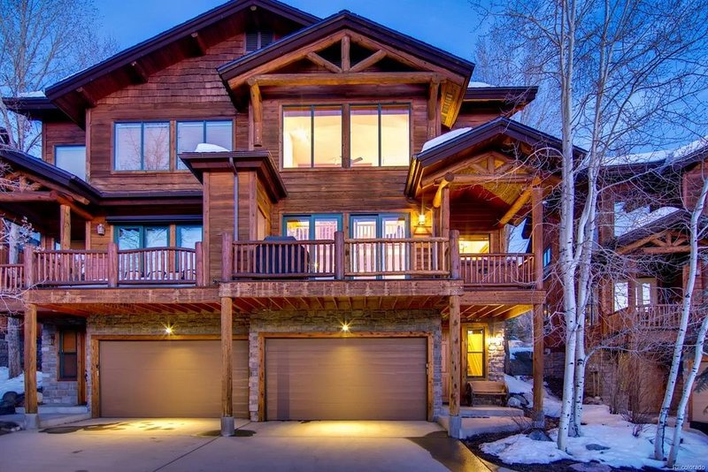 Exterior of Steamboat Springs Townhome Rental.