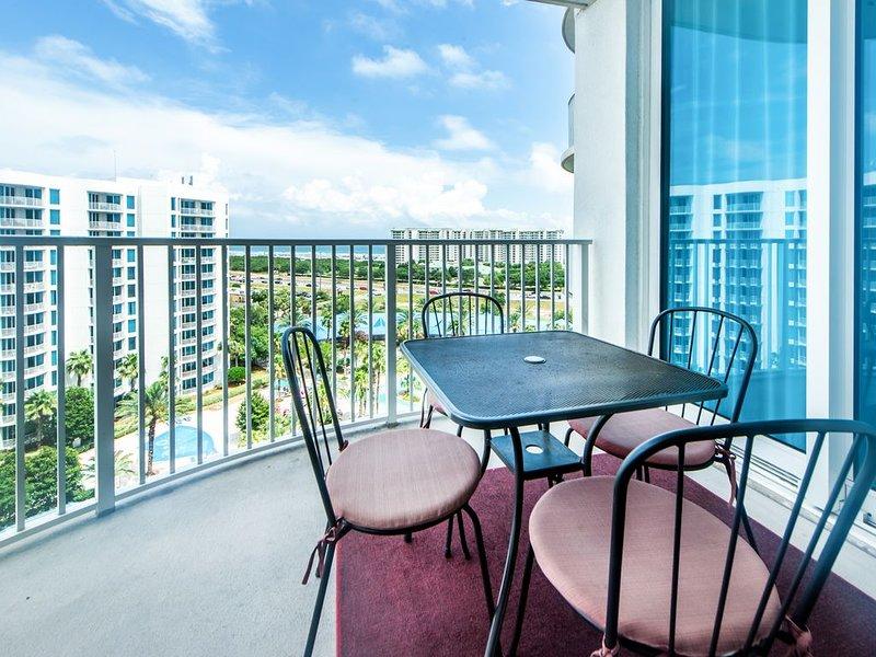 Prenez un repas sur ce magnifique balcon