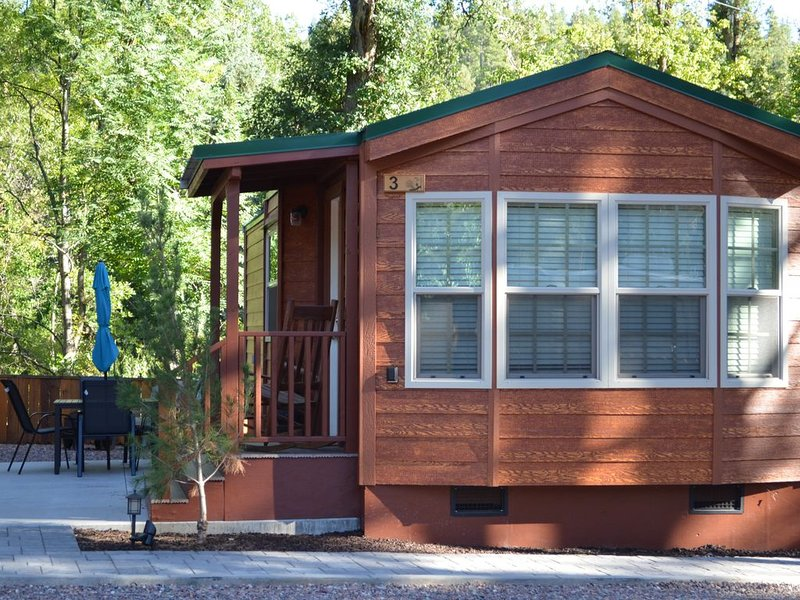 Like new one bedroom, one bath cabin overlooking Christopher Creek, holiday rental in Forest Lakes