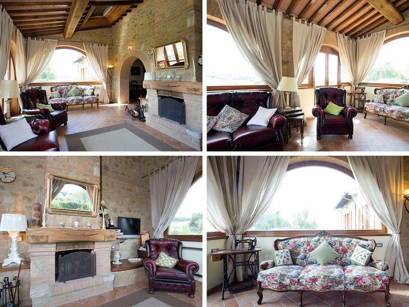 Casa Sandro a Podere Pascianella in Val d'Orcia - con ampio giardino privato, location de vacances à Montisi