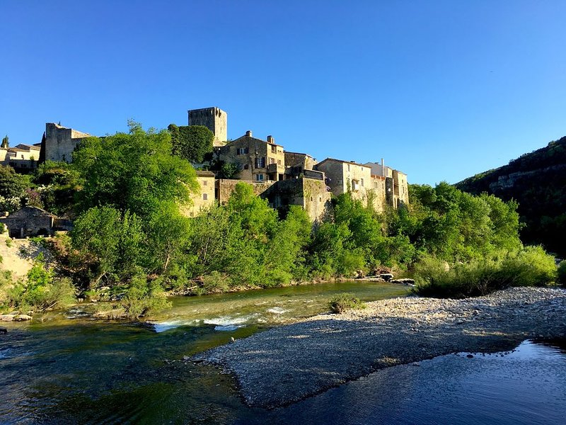 Provence: Ceze valley, splendid period house in medieval riverside village, holiday rental in Mejannes-le-Clap