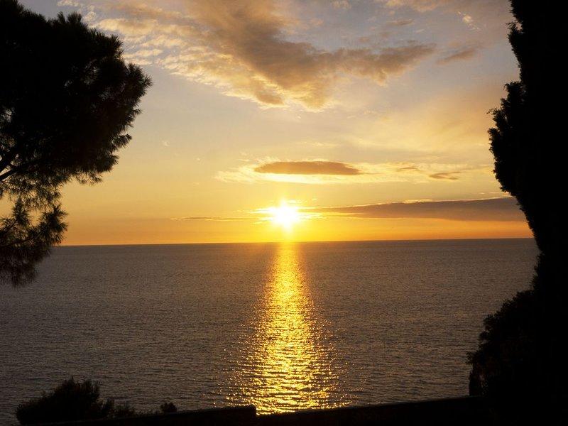 A sunset in Rovinj