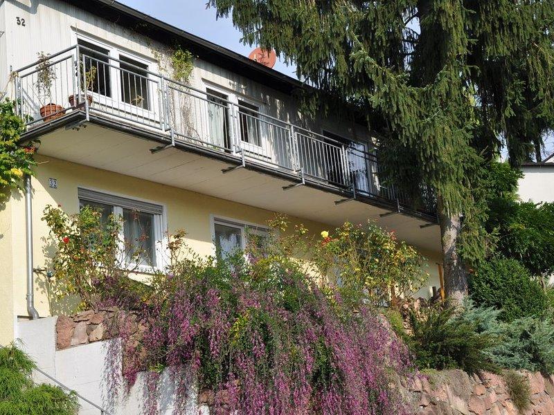 Gemütliche Ferienwohnung mit eigener Terrasse in Waldnähe bei Heidelberg, alquiler de vacaciones en Neckarsteinach
