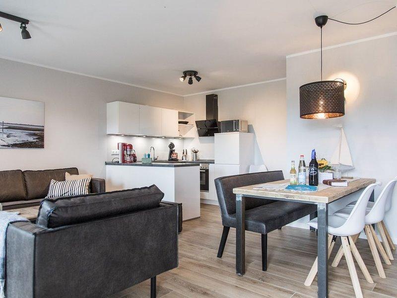 Ferienwohnung im historischen Gulfhof Dreybült I Wohnung 12 Foelke barrierefrei, vacation rental in Nessmersiel