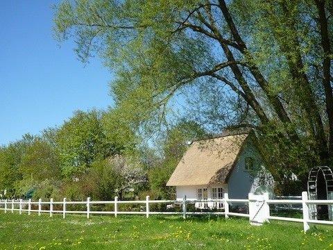 Reetdachhaus 'Am Wieseneck' mit Garten, strandnah, Internet, 3 Fahrräder, casa vacanza a Wittenbeck