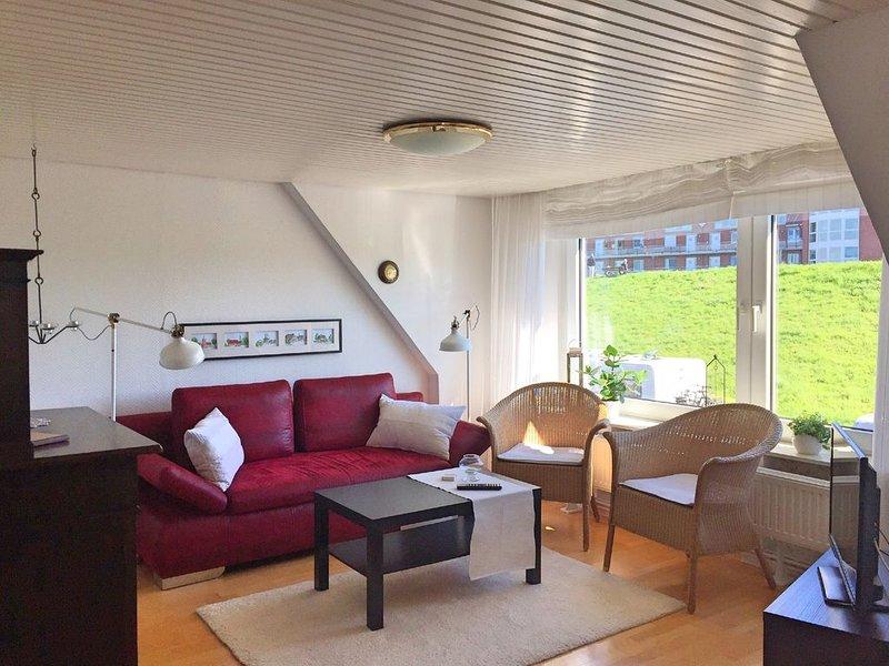 Fabys Ferienwohnung in Hollern-Twielenfleth direkt am Deich im Alten Land, holiday rental in Gruenendeich