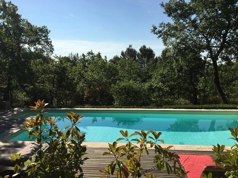 Villa avec piscine privée au calme dans pinède entre Luberon et Verdon, alquiler vacacional en Montfuron