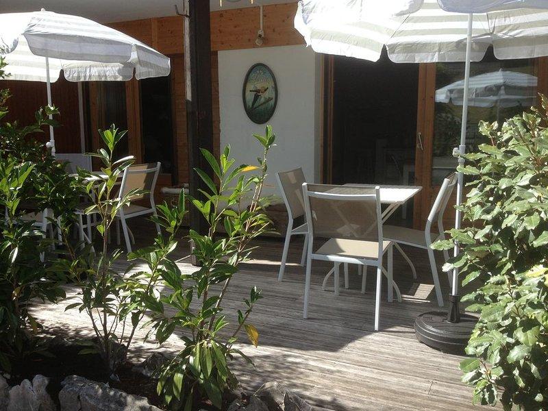 8 personnes, coeur du village, 100m des pistes, terrasse sud de plain pied, wifi, vacation rental in La Clusaz