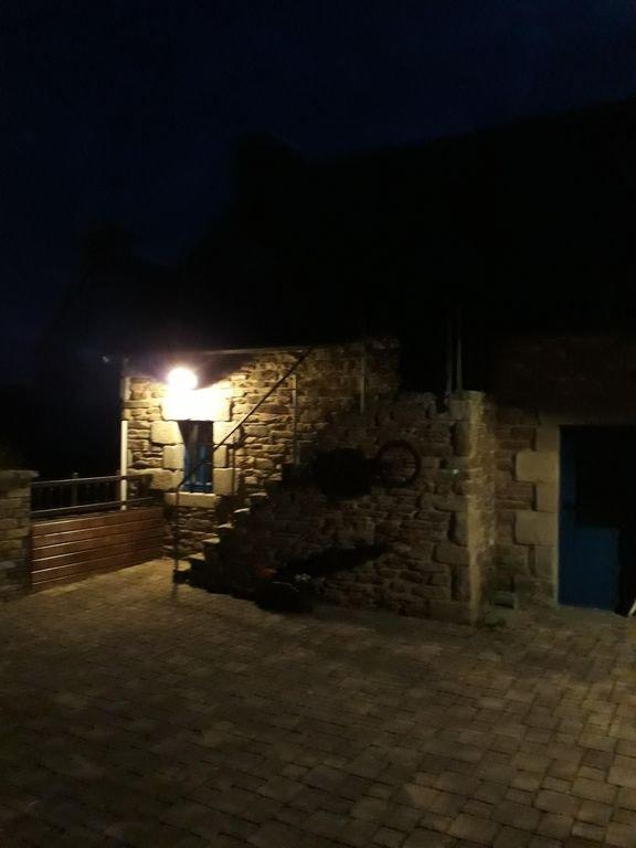 iluminação noturna no terraço