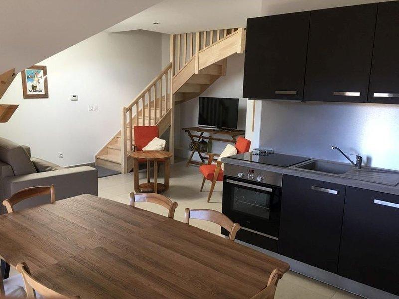 Magnifique duplex  idéalement situé: télécabine à 500 m et centre ville à 100 m., location de vacances à Saint-Gervais-les-Bains