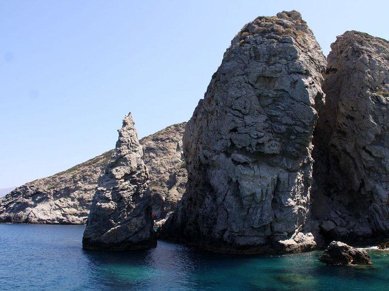 En bateau vers les Iles de Paximadi