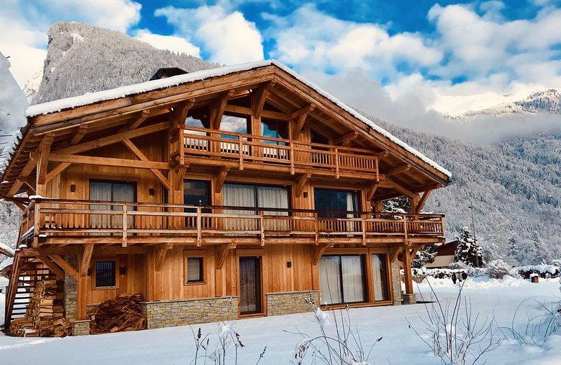 Chalet Althéa Luxe 5* spa et sauna 10/12 pers à Samoens station ski Grand Massif, location de vacances à Sixt-Fer-a-Cheval