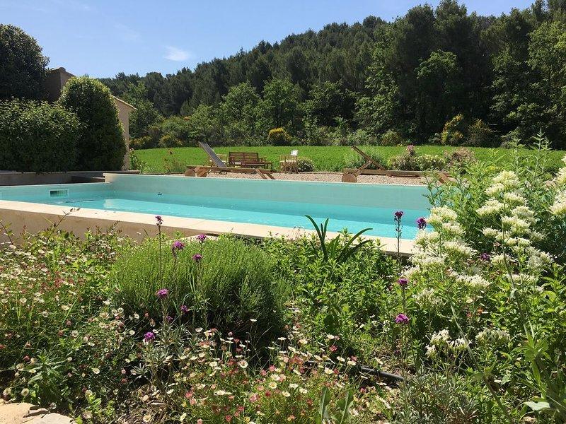 Charmant mas provençal avec piscine sur 5ha  - Calme absolu, holiday rental in Villedieu