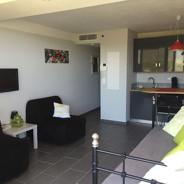 Ds résidence neuve,studio clim,  terrasse  vue mer., holiday rental in Algajola