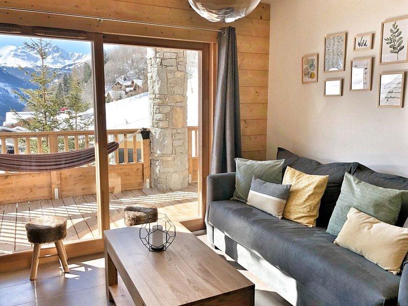Superbe T3 **** plein sud - Parc de la vanoise - centre village - linge inclus, holiday rental in Champagny-en-Vanoise