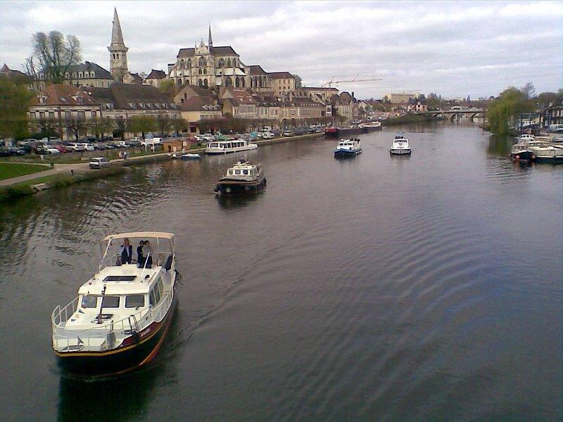 Le  Bacchus. Propriété au coeur du centre ville historique d'Auxerre (maison), vacation rental in Pontigny