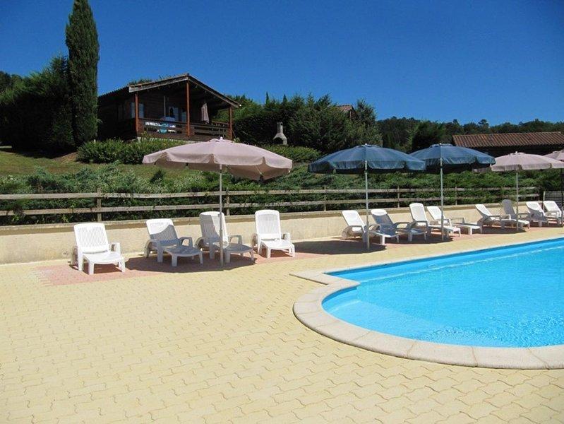 Chalet climatisé et calme avec piscine chauffée, pour 5 personnes, 2 chambres, holiday rental in Brignac-la-Plaine