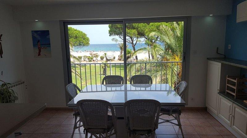 Grand appartement 90m², Vue mer exceptionnelle, CLIM,front de mer, Argeles Plage, Ferienwohnung in Argeles-sur-Mer