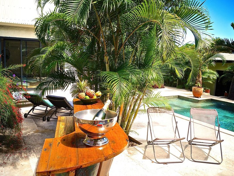 Superbe villa avec piscine et jacuzzi chauffés dans un écrin de verdure, casa vacanza a Ravine des Cabris