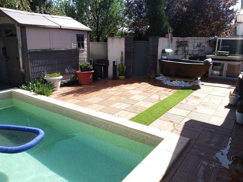 PROMO30%très belle villa 3chs piscine&Spa 2km plage sans vis à vis calme tramway, holiday rental in Perols