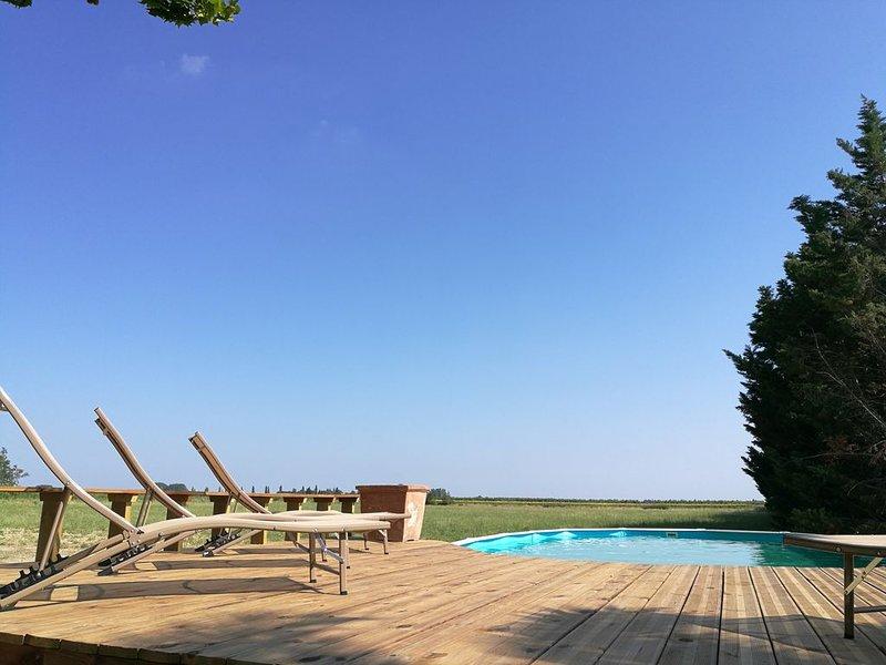 En Provence, superbe maison à la campagne avec piscine dans un Mas de caractère, holiday rental in Bellegarde