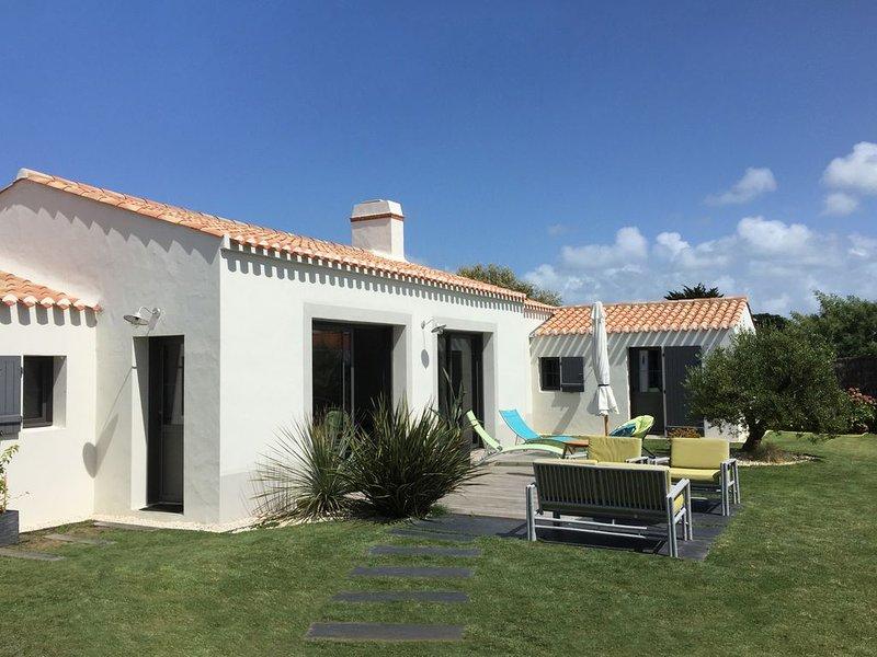 Noirmoutier, Le Vieil, Maison neuve tout confort, 250m  de la plage Mardi-Gras, alquiler vacacional en Vendee