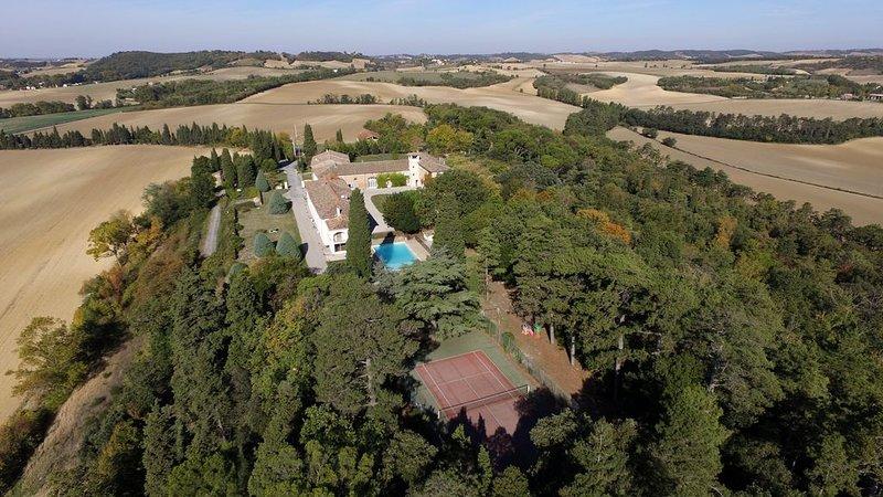 Logements 1 chambre, 1 séjour pour 2 à 4 personnes avec piscine, tennis, parc.., holiday rental in Saint-Felix-Lauragais