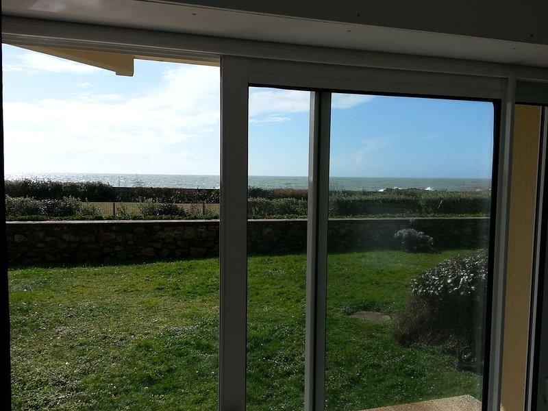 Incrível vista para o mar da sala de estar!