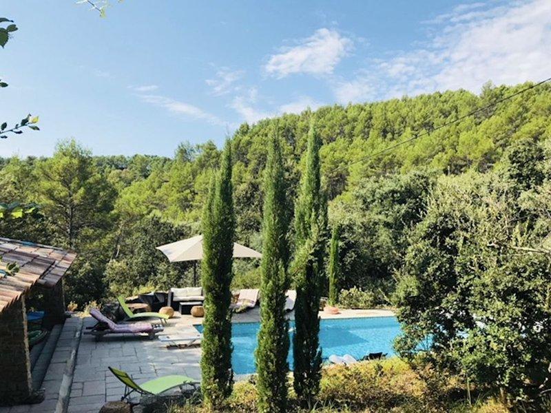 Superbe villa provençale avec piscine privée dans domaine paysagé / 45min mer, holiday rental in Entrecasteaux
