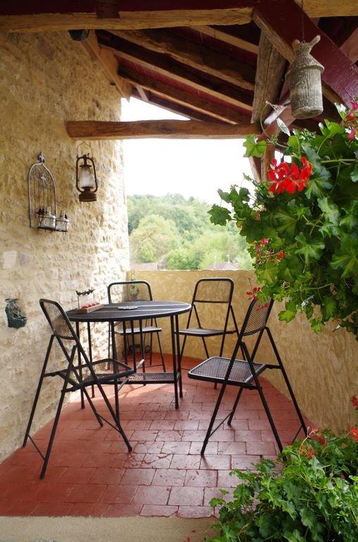 Small terrace.