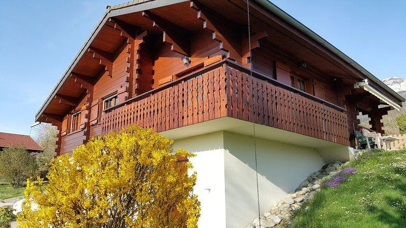 Beau chalet entre lac d'Annecy et montagnes, holiday rental in Aviernoz