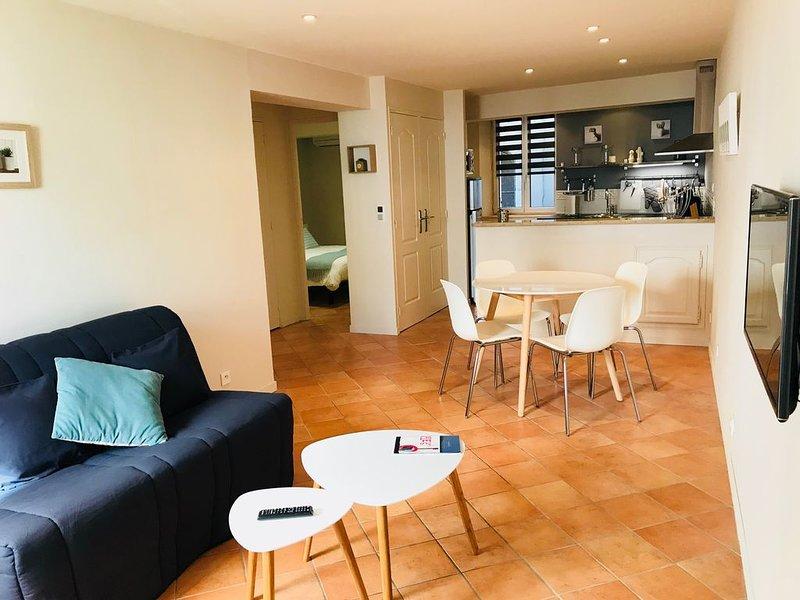 Appartement climatisé,WiFi,plein centre du village au calme + parking, holiday rental in Cassis