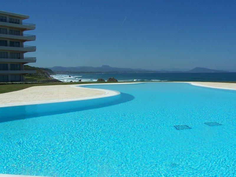 BIARRITZ_FACE MER_GD APPT T3_STANDING_PLAGES_PISCINE_TENNIS, vacation rental in Biarritz