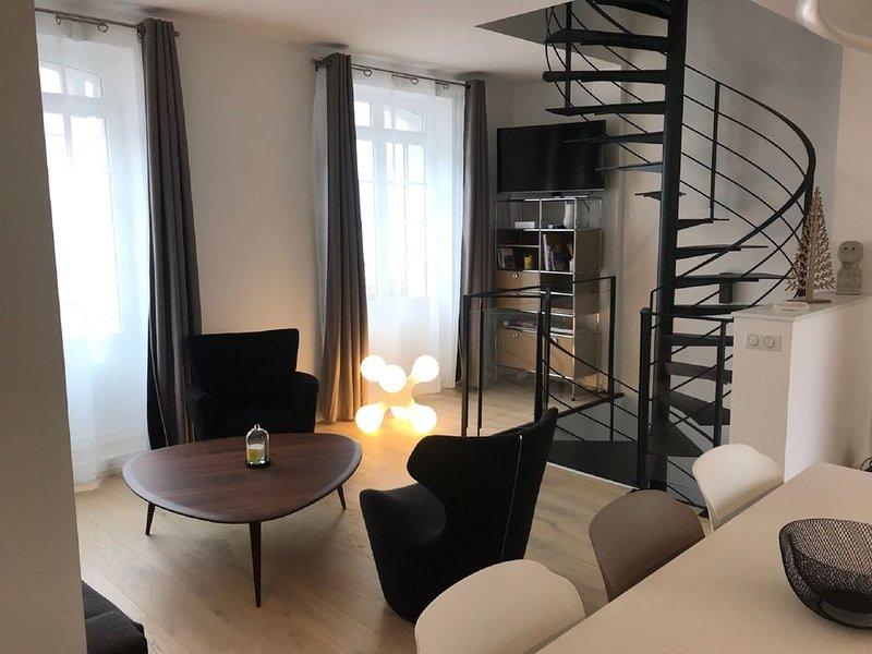 Duplex dans belle Touquettoise, prox. commerces et rue St-Jean, 150m plage, location de vacances à Le Touquet – Paris-Plage
