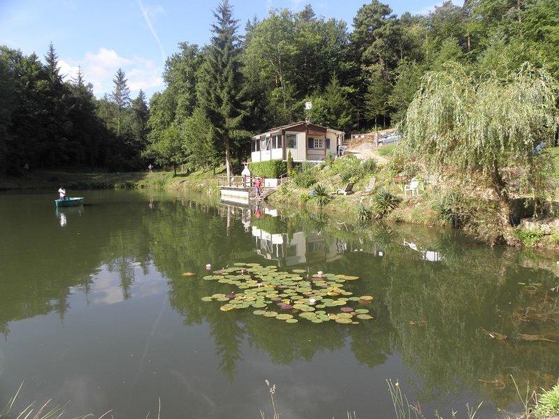 Chalet surplombant un étang dans un cadre verdoyant., holiday rental in Etouars