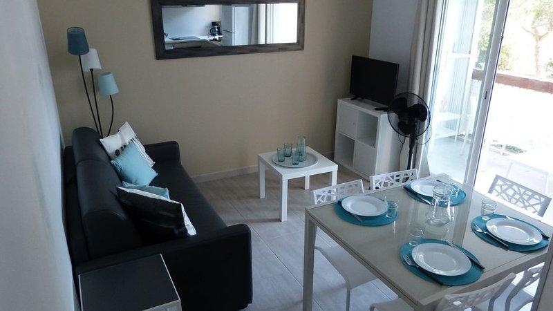 T 2 de 35 m2 + balcon, 5 couchages, dans le quartier recherché du « Point zéro, location de vacances à La Grande Motte