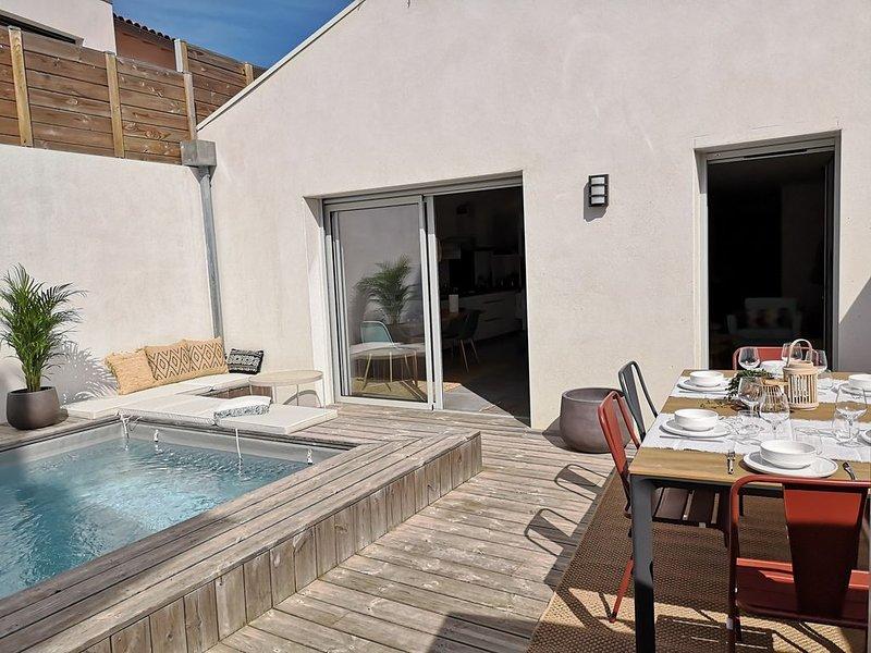 BIDART PLAGE - Maison avec patio et piscine privée, à 100 m de la plage, location de vacances à Bidart